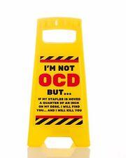 Desk Warning Sign Im Not OCD But Office Fun Secret Santa Novelty Gift Brand New