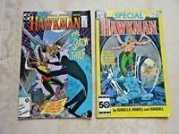 HAWKMAN (2) Comics 1986 DC #2 Sept The Shadow Thief & #1 Special Annual (B1 58)