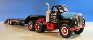 FIRST GEAR CAPPELLO TRUCKING  1960 B MACK  WITH LOWBOY TRAILER  19-2888   NEW