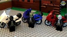 Lego Motorcycle Gang 3 Lego Motorcycles Lego Leather Jackets Jeans 3 Minifigures
