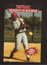 Wisconsin Badgers--1996 Softball Pocket Schedule--University Book Store