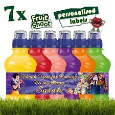 7 X personalizado de nieve blanco y los siete enanitos fruta disparar Pegatinas Etiqueta del frasco