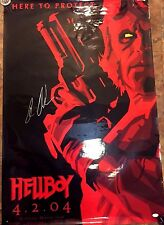 HellBoy RON PEARLMAN Signed Original One Sided Glossy 1st movie poster JSA 27x40