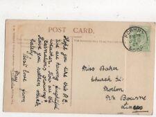 Miss Baker Church Street Morton Bourne Lincolnshire 1907  805a