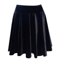 VELVET Black Skirt Ballroom Dance Latin Salsa UK Made Show Costume
