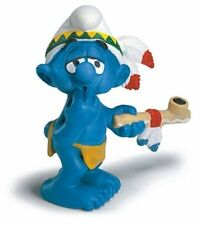 PEACE PIPE AMERICAN INDIAN SMURF from 2007 by SCHLEICH THE SMURFS - 20553