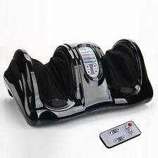 Shiatsu Kneading and Rolling Foot Leg Massager Calf Ankle w/ Remote Black