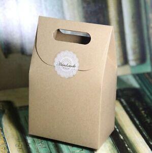 10 / 50 pcs Kraft Paper Party Bag/ Loot Bag/ Favour Box/ Party Gift Bag