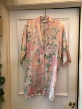 Victoria's Secret Silk Robe Dressing Gown Night Shirt Floral One Size