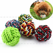 Pet Puppy Rope Dog Cottons Chews Toy Ball Play Braided Bone Knot Teeth Growth ZY