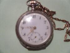 Minerva Taschenuhr Cylindre 10 Rubis, Silber / Gold