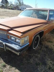 1977,1978 Cadillac D Eligance , Coupe, parting out, parts car, Cady,Driver headl