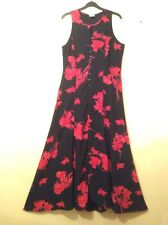 NWOT JACQUES VERT COLLECTION Occasion Black&Red Sleeveless Maxi Dress.Size:14
