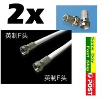 .2 x Metric F Male head lazy Tighten fitting without coil for TV top box etc AU