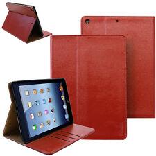Smart Cover per Apple iPad Air 2 PU Cuoio custodia borsa Protezione tablet rosso