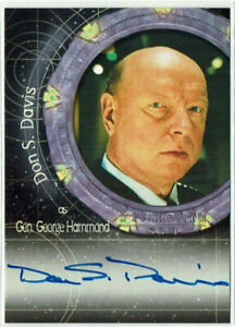 Stargate SG-1 Premiere Edition Autograph Card A2 Don S. Davis as General Hammond