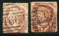 GREAT BRITAIN QUEEN VICTORIA SCOTT# 32 LOT OF 2 SHADES USED AS SHOWN