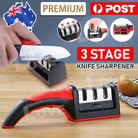 Knife Sharpener 3 Stage Tungsten Diamond Ceramic Steel Kitchen Knives Sharpening