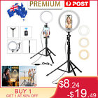 """8'' 10'' 6000K Dimmable LED Ring Light with Tripod Stand Selfie Make Up Lamp AU <br/> ✔17.5""""-51""""Aluminum Lightweight Tripod✔High Quality ✓"""