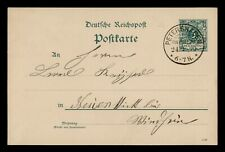 DR WHO 1890 GERMANY PETERSHAGEN POSTAL CARD STATIONERY C186122