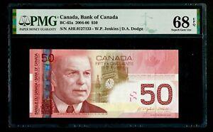 Canada 🇨🇦 2004 - $50 Dollars BC-65a - PMG Gem UNC 68 EPQ TOP POP - RARE DATE