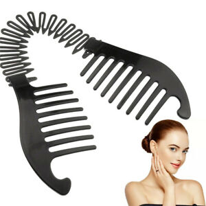 Plastic Banana Hair Clip Vintage Christmas Accessory Stretchable Comb Bendable