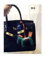 elmart1688-US-Leather Rodeo Horse Pony bag charm,perfect for herme Birkin anybag