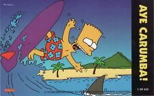 The Simpsons Downunder Rare Surfing Bart Oversize Box Topper Card