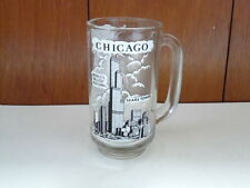 Sears Tower Chicago World's Tallest Building Glass Beer Mug Stein with Handle