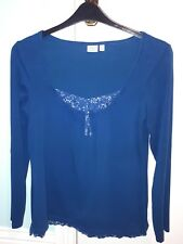 Stunning Esprit Ladies Teal Coloured X L Long Sleeved Tunic Top