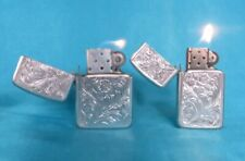 Rare Pair of Vintage His & Hers Aluminium Park Lighters. Working!