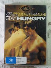 Stay Hungry (DVD, 2005) Region 4 Aus -Jeff Bridges_ Arnold Schwarzeneger-Comedy