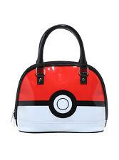 Loungefly Pokeball Pokemon Go Patent Dome Handbag Purse Bag Rwb Nintendo Nwt