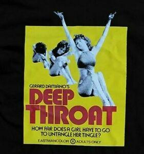Deep Throat Linda Lovelace Porno Chic PreShrunk Hand Unisex T-Shirt, S-5XL