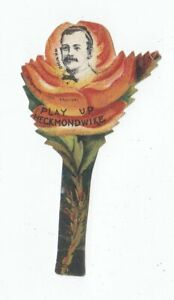 Sharpe (Baines type) Buttonhole Floral Football Card - c1890 - Heckmondwike Wood