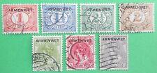 Nederland NVPH D1 t/m D7 Armenwet Dienstzegels 1913 gebruikt E64