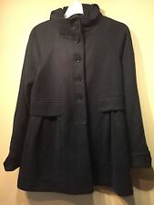 NWOT Gap Women's Hoodie Sueded French Fleece Jacket,True Indigo SIZE S   #293066