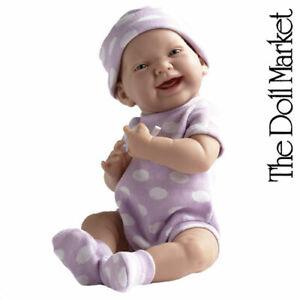 "Berenguer 15"" La Newborn 18513 Purple Polka Dot ""Real Girl"" Baby Doll New in Box"