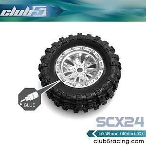 1/24 Scale 1.0 Custom Wheels ( C ) for SCX24 ( 4 Pcs Set, 7mm Hex )