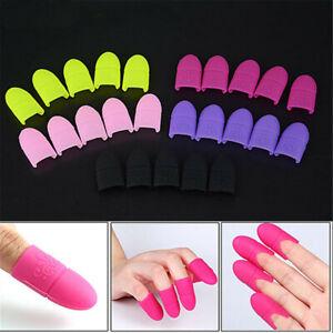 5pcs Nail Art Tips UV Gel Polish Remover Wrap Silicone Elastic Soak Off Cap Clip