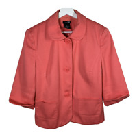 East 5th Womens Blazer Suit Jacket Coat Button 3/4 Sleeve Work Ladies Size 14