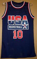 USA BASKETBALL DREAM TEAM CLYDE DREXLER Blue #10 AUTOGRAPHED JERSEY