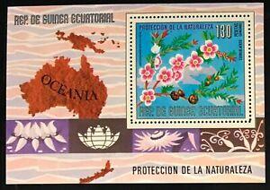 Equatorial Guinea #MiBl234 MNH S/S CV€6.00 Oceania Flowers