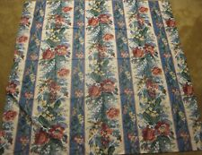 """English Chintz Floral Rose Linen Fabric Tablecloth 50"""" Square"""
