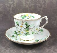 Vintage Royal Albert Yellow and White Dogwood Floral Tea Rose Bone China Tea Cup