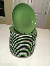 """Huge Lot of 18 CRATE&BARREL Green Porcelain 6.5"""" APPETIZER BREAD DESSERT PLATES"""