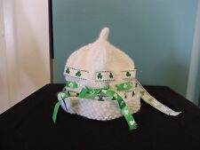 Irish Shamrock St Patricks Day Knit Baby Infant Hat