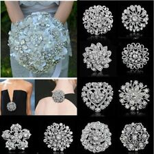 Wholesale 10pcs/Set Crystal Brooch Pins Women Wedding Bouquet Bridal Jewelry New