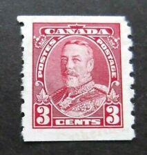 Canada-1930-GV 3c Red Coil-MNH No Gum