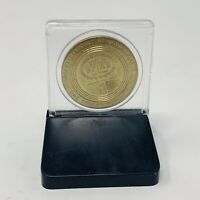 Gold Spike Casino Coin Metal with Display Case $1 Las Vegas Nevada Vintage